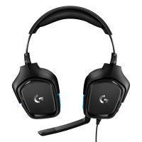 罗技(Logitech)G431 DTS7.1环绕声游戏耳麦(蓝色)