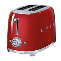 诗迈格(SMEG) 家用多士炉吐司机早餐制作TSF01(红色)