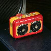 猫王(MAOKING)霹雳唱机 便携式复古蓝牙音箱音响 MW-P6(国潮红)