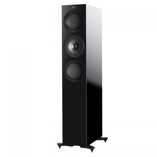 KEF R7 中型落地式扬声器一对 家庭影院主音箱(黑色)