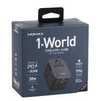 摩米士(Momax)精英PD42W 环球旅行充电插座 UA7E(深空灰)