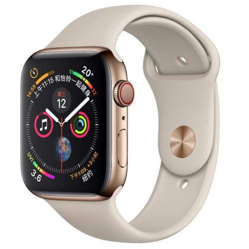 Apple Watch S4 44mm GPS+蜂窝版 MTX42CH/A (金色不锈钢+岩石色)【特价商品,非质量问题不退不换,售完即止】【清仓折扣】