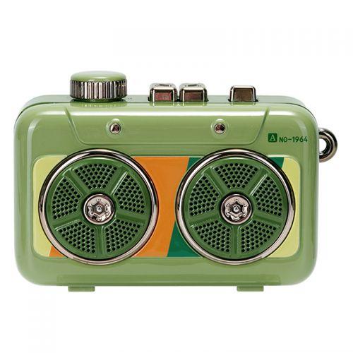 猫王(MAOKING)霹雳唱机 便携式复古蓝牙音箱音响 MW-P6(猫王绿)