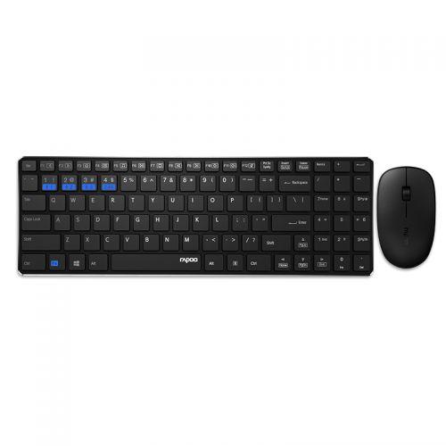 雷柏(Rapoo)多模式无线键鼠套装9300M(黑色)