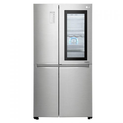 LG 643升 透视窗门中门 四门冰箱GR-Q2473PSA(银色)