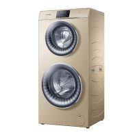 卡萨帝(Casarte)双子云裳空气洗 12KG 带烘干滚筒洗衣机 C8 HU12G3(香槟金)