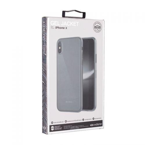 道瑞(x-doria)iPhone X柔彩系列手机保护套 (清水透)