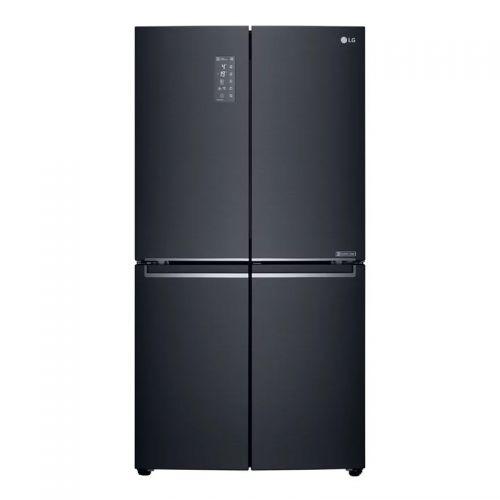 产地韩国 进口LG 671L 变频速冻恒温双风系保鲜十字四门冰箱 F678MC35A(曼哈顿午夜)