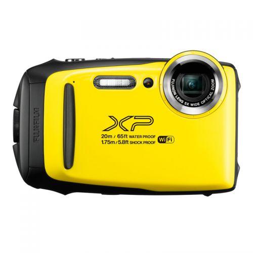富士(FUJIFILM)数码运动相机 防水防尘防震防冻  5倍光学变焦相机XP130 (黄色)