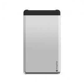 摩尔菲(Mophie)6000毫安双USB超薄移动电源PWRSTION(银)