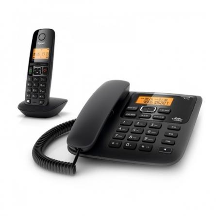集怡嘉(Gigaset)  A730 无绳电话机 一拖一 无线电话 (宝石黑)