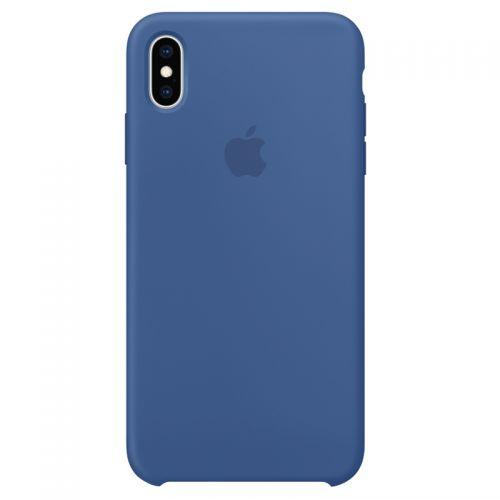 Apple iPhone XS Max 硅胶保护壳 MVF62FE/A(瓷蓝色)【特价商品,非质量问题不退不换,售完即止】【清仓折扣】