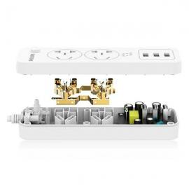 飞利浦(Philips)二位总控带USB电源转换器 SPS1212Q/93(1.6米)】
