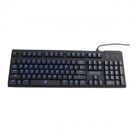 【特价商品,非质量问题不退不换,售完即止】酷倍达(QPAD)MK-70-RD 红轴机械键盘 (黑色)【清仓折扣】