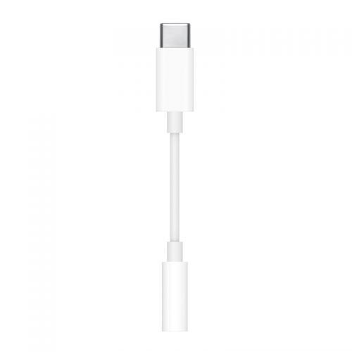 Apple USB-C转3.5毫米耳机插孔转换器 MU7E2FE/A(白色)