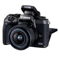产地日本 进口佳能(Canon)EOS M5 (EF-M 15-45mm) 微型单电套机 黑色 高速对焦 高速连拍