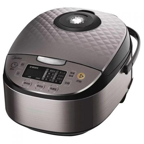 美的(Midea)智能预约5升电饭煲RS5057(灰色)【下单赠手持风扇 274912】