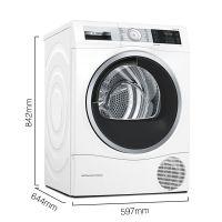 产地波兰 进口博世(BOSCH)9公斤 干衣机 WTU879H00W(白色)