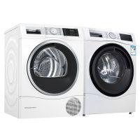 博世(BOSCH)6系 10公斤活氧变频滚筒洗衣机WGC354B0HW +  9公斤热泵式干衣机WTU879H00W(白色)洗烘套装【赠连接件】