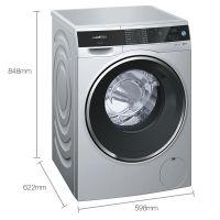 西门子(SIEMENS) iQ500系列 10公斤滚筒洗衣机WM14U768HW(银色)