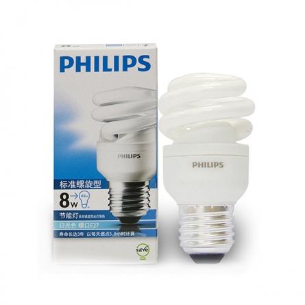 飞利浦(Philips)8W 大头冷光标准螺旋节能灯
