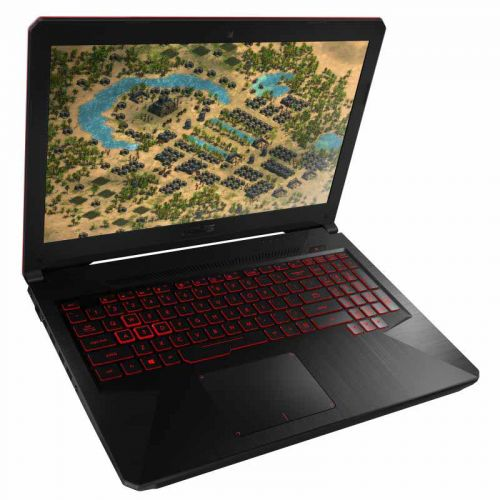 华硕(ASUS)15.6英寸游戏笔记本(I5-8300H  8GB  128SSD+1TB)FX80GE8300-1B8AXCA4X10(黑色)