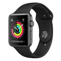 Apple WatchS3 38mm GPS版 MTF02CH/A(深空灰+黑色)