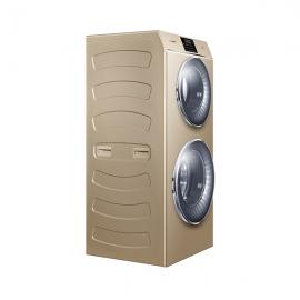 卡萨帝(Casarte)12公斤 双子云裳双筒洗 带烘干 滚筒洗衣机 C8HU12G1(香槟金)