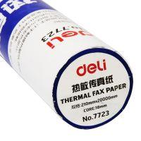 得力 7724 热敏传真纸 210mmx20m 24卷/盒 (单位:卷) 白