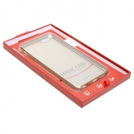 **宜适酷 EY699透明电镀保护套(金色)适用于5.5英寸iPhone6s Plus/iPhone6 Plus