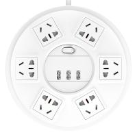 突破(TOP)六位防雷带 USB1.8米 电源转换器 SR21pro(白色)