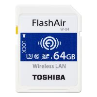 东芝(TOSHIBA) 64GB FlashAir Wifi  存储卡THN-NW04W0640C6