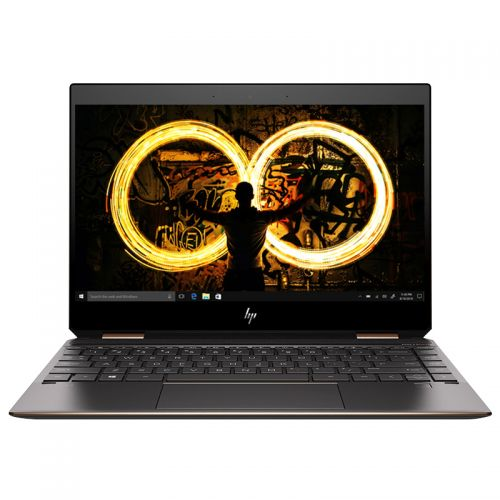 惠普(HP)幽灵Spectre X360 13.3英寸笔记本电脑(i5-8265U 8GB 256GB 翻转触控 IPS)黑金 13-ap0029TU