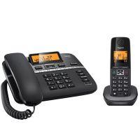 *集怡嘉(Gigaset) C330系统  无绳子母电话机 一拖一子母机(钢琴黑)