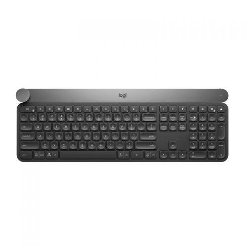 罗技(Logitech)智能控制旋钮无线键盘craft(黑色)