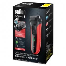 博朗(BRAUN)3系电动剃须刀3030(红色)