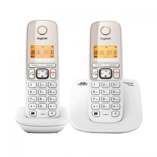 集怡嘉(Gigaset)原西门子品牌A530电话机套装(珍珠白)