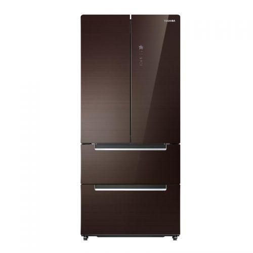 东芝(TOSHIBA)528L一级能效智能调温四门冰箱 BCD-528WGJT(兰芷棕)