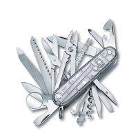 产地瑞士 进口维氏(VICTORINOX)超级冠军瑞士军刀1.6794.T7(银色)