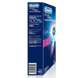产地德国 进口博朗(BRAUN)欧乐B  PRO 600 3D智能电动牙刷D16.523U Pink(粉色)