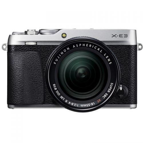 富士(FUJIFILM)X-E3 XF18-55 微单套机 2430万像素 触摸屏 4K视频 蓝牙4.0(银色)
