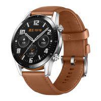 【预订】华为(HUAWEI)WATCH GT2 智能手表 棕色真皮表带 LTN-B19(砂砾棕)