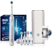 产地德国 进口博朗(Braun)欧乐B 3D智能电动牙刷9000.plus(白色)