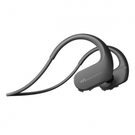 产地马来西亚 进口索尼(SONY)NW-WS414 头戴式运动防水音乐播放器 (黑色)