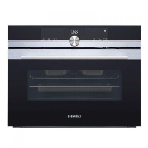 产地德国 进口西门子(SIEMENS)47L  不锈钢 自清洁 嵌入式 蒸烤一体机 CS656GBS2W