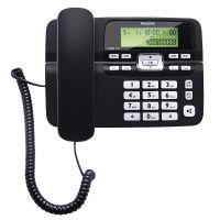 飞利浦(Philips)商务型 一键拨号家用电话机座机固定电话机CORD118(黑色)