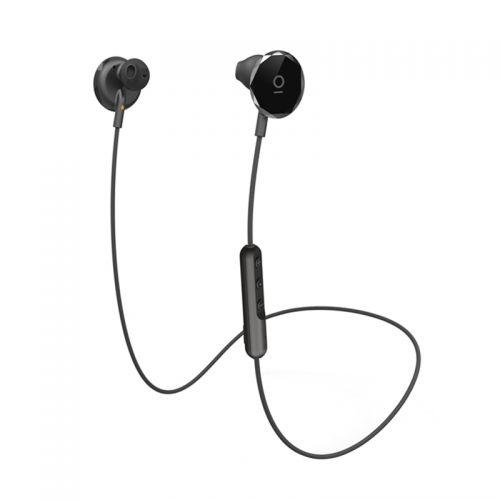 BUTTONS 黑眼豆豆无线蓝牙降噪耳机运动挂脖入耳式耳机Black Ice(黑色)