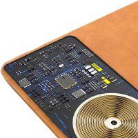 D8 真皮鼠标垫无线充 PWB-2119(棕色)