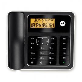 摩托罗拉(Motorola)CT330C 来电显示有绳电话机橙色背光免提通话免电池家用办公座机 (黑色)