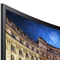 三星(SAMSUNG)23.5英寸 1800R曲率 广视角低蓝光 曲面电脑液晶显示器 C24F396FHC(黑色)